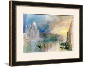 Venice: Grand Canal with Santa Maria Della Salute by J. M. W. Turner