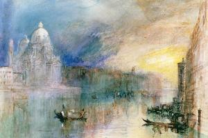 Venice: Grand Canal with Santa Maria Della Salute by J. M. W. Turner