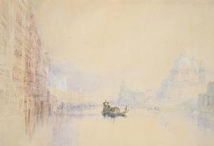 Venice: the Grand Canal, 1840 (Watercolour over Graphite with Bodycolour and Pen and Red Ink) by J. M. W. Turner