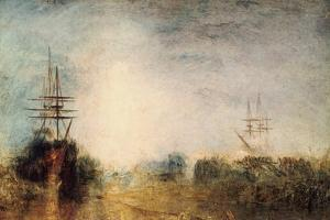 Whalers (Boiling Blubbe) Entangled in Flaw Ice, Endeavouring to Extricate Themselves, 1846 by J. M. W. Turner