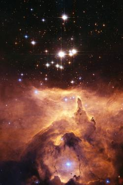 Star Cluster Pismis 24 Above NGC 6357 by J. Maiz