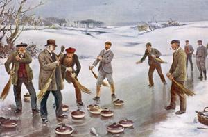 An Exciting Finish to a Curling Match in Scotland by J. Michael