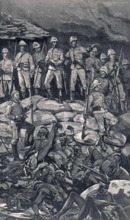 Rorke's Drift Chard and Bromhead with Their Men the Morning after the Zulu Attack by J. Nash