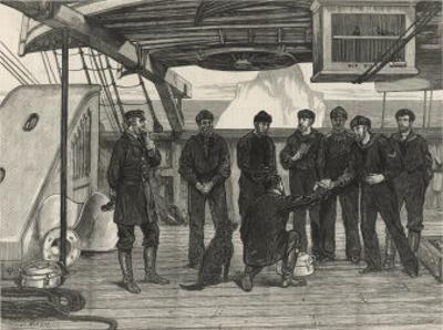 """Serving Lime Juice to Prevent Scurvy During """"Alert"""" Artic Expedition by J. Nash"""