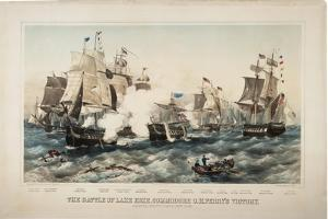 The Battle of Lake Erie, Commodore O.H. Perry's Victory, 1878 by J. P. Newell