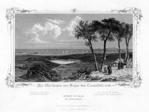 The Gulf of Baja from Camaldoli, Italy, 19th Century by J Poppel
