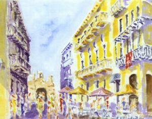 Street Scene, Puerto Rico by J. Presley