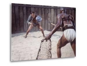 "Actor Kirk Douglas Faces Actor Woody Strode in Scene From Stanley Kubrick's Film ""Spartacus"" by J. R. Eyerman"
