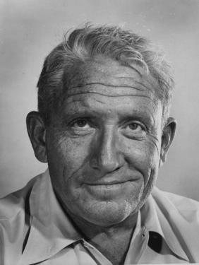 """Actor Spencer Tracy During Time of Filming """"Bad Day at Black Rock"""" by J. R. Eyerman"""