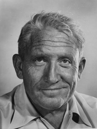 "Actor Spencer Tracy During Time of Filming ""Bad Day at Black Rock"" by J. R. Eyerman"