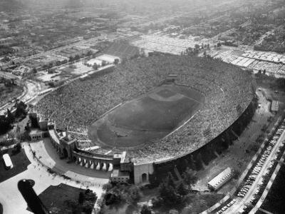 An Aerial View of the Los Angeles Coliseum by J. R. Eyerman
