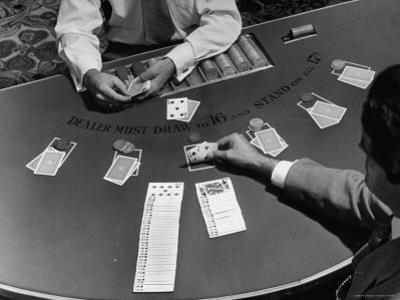 Blackjack is a Moneymaking Gambling Game in the Gambling Halls by J. R. Eyerman