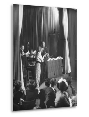 Comedian Kay Thompson's Night Club Act at Ciro's by J. R. Eyerman