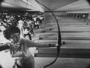 Fresno's Sunnyside Bowl Bowling Alley by J. R. Eyerman