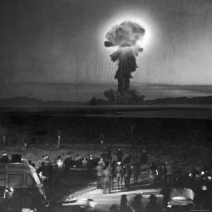 Gigantic Cloud of Radioactive Dust Rising From the Desert Floor by J. R. Eyerman