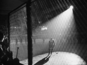 Hockey Game Being Held in the Spokane Colliseum by J. R. Eyerman
