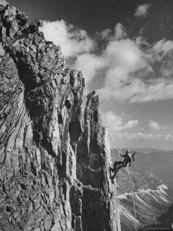 Mountaineer Students Training on Mountain by J. R. Eyerman