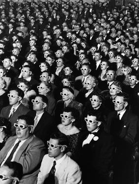 """Opening Night Screening of First Color 3-D Movie """"Bwana Devil,"""" Paramount Theater, Hollywood, CA by J. R. Eyerman"""