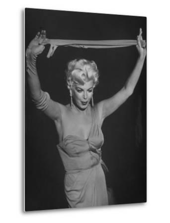 "TV Stripper Barbara Nichols in the Play ""The Untouchables"" by J. R. Eyerman"