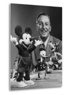 Walt Disney, of Walt Disney Studios, Posing with Some Famous Cartoon Characters by J. R. Eyerman
