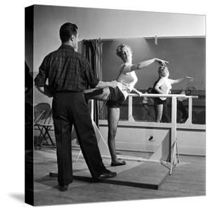Young Upcoming Starlet Marilyn Monroe Practicing in Dance Class by J. R. Eyerman