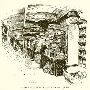 Interior of Post Office Van on a Mail Train by J. R. Sinclair