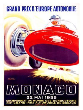 Monaco Grand Prix, 1955 by J. Ramel