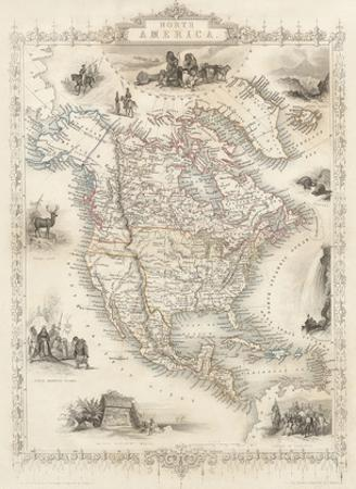 Map of North America - Central America from Greenland to Panama