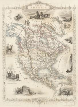 Map of North America - Central America from Greenland to Panama by J. Rapkin