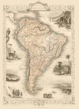 Map of South America by J. Rapkin