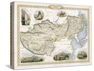 Map of Tibet Mongolia and Manchuria by J. Rapkin