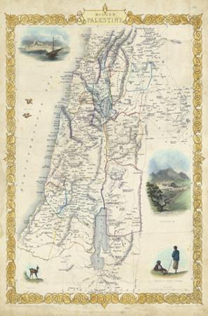 Vintage Map of Palestine