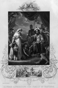 Alfred the Great Frees the Family of Hastings by J. Rogers