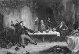 Drinks in Baronial Hall by J. Rogers