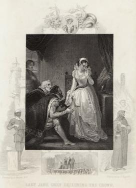 Lady Jane Grey Declining the Crown by J. Rogers