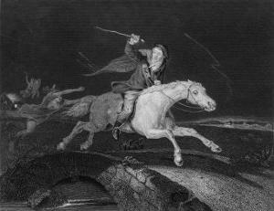 Tam O'Shanter, He Rides with the Devil Behind Him by J. Rogers