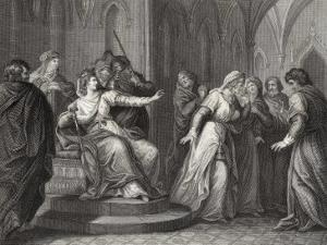 The Empress Matilda Daughter of Henry I Refuses the Plea of King Stephen's Wife to Release Him by J. Rogers