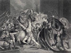 Wat Tyler is Killed by Sir William Walworth by J. Rogers
