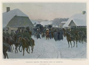 Napoleon Deserts the Grand Army at Smorgoni and Returns to Paris by J. Rosen