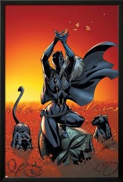 Black Panther No.3 Cover: Black Panther by J. Scott Campbell