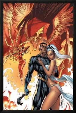 Black Panther No.5 Cover: Black Panther and Storm by J. Scott Campbell