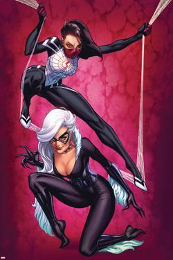 Silk No.3 Cover, Featuring Silk and Black Cat by J. Scott Campbell