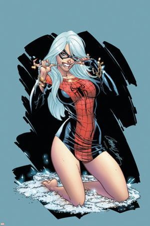 The Amazing Spider-Man No.607 Cover: Black Cat by J. Scott Campbell