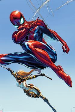 The Amazing Spider-Man No. 9 Cover Featuring Mockingbird by J. Scott Campbell