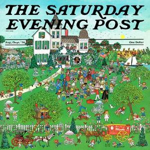 """Lawn Party,"" Saturday Evening Post Cover, August 1, 1974 by J. Sickbert"