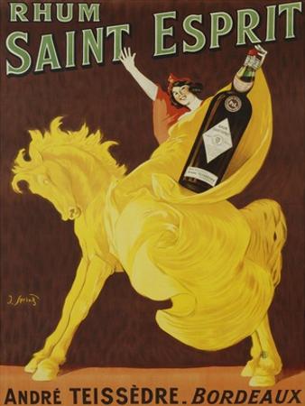 Rhum Saint Esprit, 1919 by J. Spring
