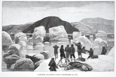 Landing at Eskimo Point, September 29, 1883, Pub. London 1886
