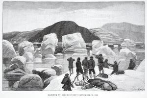 Landing at Eskimo Point, September 29, 1883, Pub. London 1886 by J. Steeple Davis