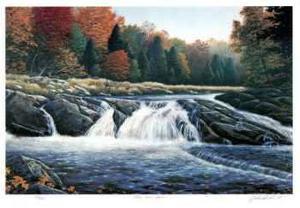 Gull River Falls by J. Vanderbrink