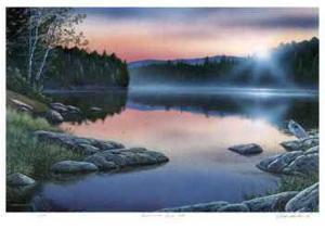 Sunrise on Silent Lake by J. Vanderbrink